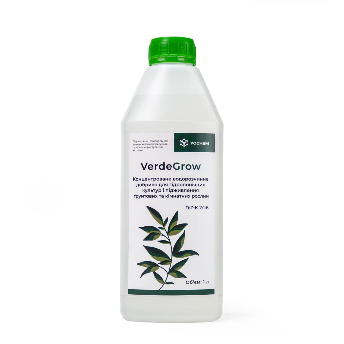 Концентрированное водорастворимое удобрение для гидропонных культур и подкормки грунтовых и комнатных растений VerdeGrow